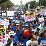 Protesta ADP: Quieren destruir gremio, República Digital es un bulto, Almuerzo Escola no sirve