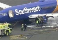 Pasajera muere y 7 heridos tras aterrizar de emergencia avión de Southwest Airlines le explotó motor
