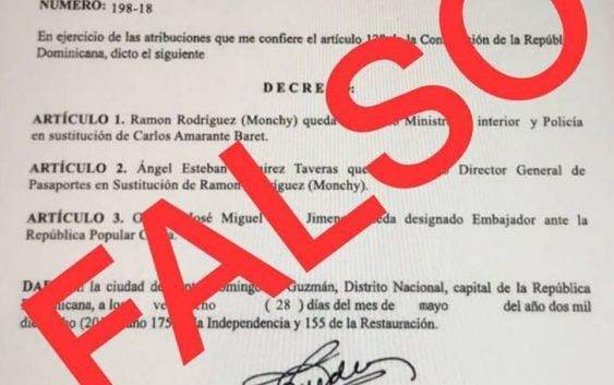 Palacio desmiente decreto designando a Ángel Ramírez, Monchy Rodríquez y Soto Jiménez