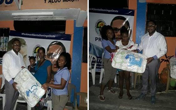 Dirigente del PRD Carlos Trinidad realiza jornada social en Herrera