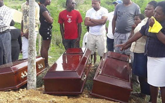 Reciben Cristiana sepultura tres hermanitos ahogados en laguna de San Pedro de Macorís