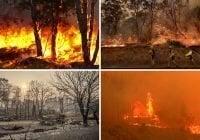 Incendio en California a causa de pinchadura de neumático; Claman por ayuda Federal