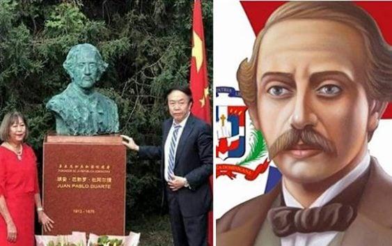 Aseguran busto de Duarte en Pekín, China, tiene «rostro de un chino»