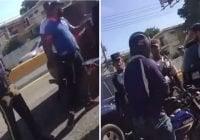 Detenido por Digesett en elevado es rescatado por colegas de la DNCD con armas largas; Vídeo