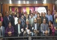 Diputados Leonelistas denuncian alianza del PRM-Sector oficial para apoyar Primarias y reformar la Constitución.