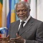 El ghanés Kofi Atta Annan, Premio Nobel de la Paz luchó desde la ONU por ella