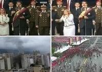 Dos explosiones, supuestamente dron explota cerca de donde Maduro hablaba pepla; Vídeo