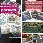 Marcha Verde denuncia Gobierno eclipsó prensa escrita para opacar su éxito