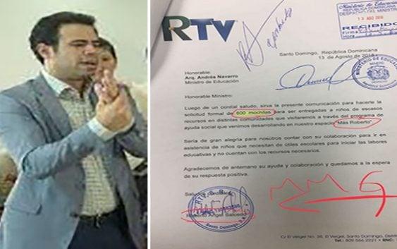 Que mega desfachatez, el hijo de Roberto Salcedo pidiendo al Minerd para hacer política