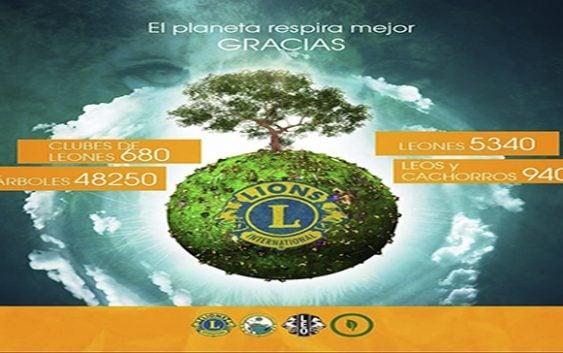 Clubes de Leones siembran más de 48 mil árboles en Jornada Latinoamericana