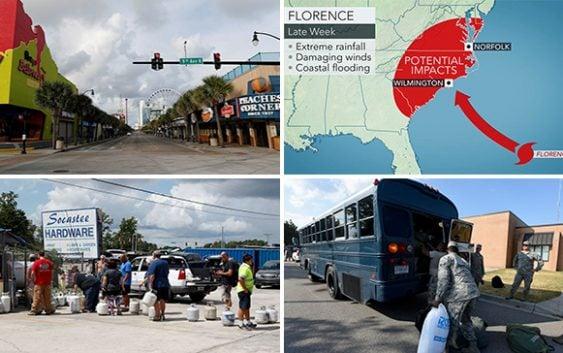 Huracán Florence podría tocar hoy a Wilmington, Carolina del Sur, Carolina del Norte y Virginia