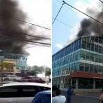 Incendio afecta Centro Comercial Plaza Fama y oficinas de la gobernación de SD; Vídeo