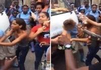De qué no sería capaz este delincuente de la Policía, si sacó el arma para impedir pelea; Vídeo