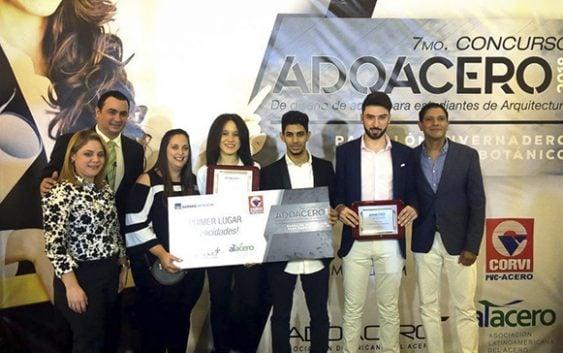 Entregan VII Premios Adoacero para estudiantes de arquitectura