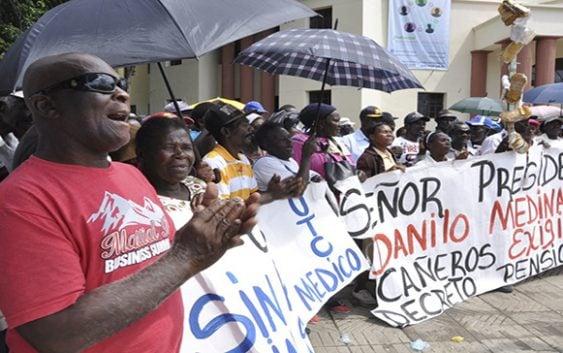 Trabajadores Cañeros continúan lucha por sus míseras pensiones