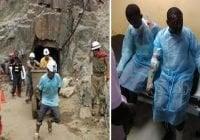 Trasladan a Santo Domingo dos personas quemadas en explosión mina de larimar