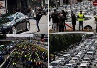 La huelga de taxistas sigue presionando a Fitur