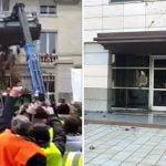 Arrojan Mierda: En la RD, en la sede del Poder Judicial; En Francia, en el Palacio de Gobierno; Vídeos