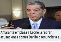 Los secuaces de Danilo tienen al León por las greñas (Décima)