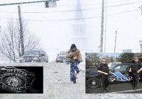 Policía ayuda en el parto a pareja atascada en el tránsito por la nieve en Atlanta