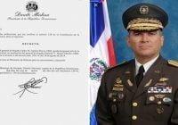 Presidente designa al general Carlos M. Aguirre Reyes ERD, jefe Policía Militar Electoral