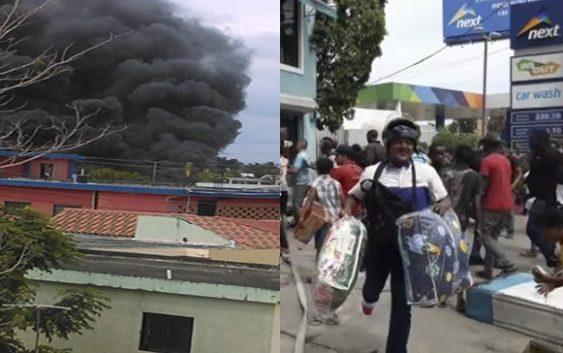Incendio en fábrica de colchones Acolchado Todo Hogar en SDE; Delincuentes la saquean; Vídeo
