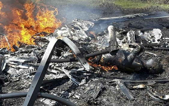 Helicoptero se estrella en Puerto Plata muriendo sus tres ocupantes; Vídeo