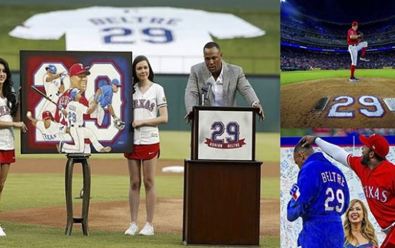 Rangers de Texas retiran número 29 uso Adrian Beltré en ocho temporadas