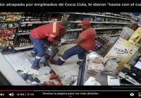 """Atracador sorprendido por empleado de Coca Cola, le dieron """"hasta con el cubo del agua""""; Vídeo"""