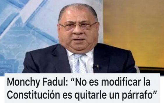Ya salió Monchy Fadúl, con su cabeza de puerco (Décima)