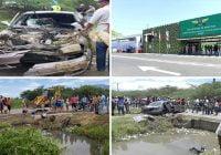 Ocho de 16 haitianos y el chófer dominicano mueren tras evadir chequeo en Jicomé, Esperanza