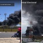 Sofocan incendio en la JCE; Castaños Guzmán dice no afectará elecciones; Vídeos