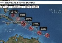 Centro de la tormenta Dorian gira hacia Puerto Rico y afectará a la RD; Tampa Bay dentro del cono