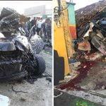 Dos días de duelo por muerte (anunciada) de los cinco jóvenes en accidente; Los velan en colegio; Vídeo