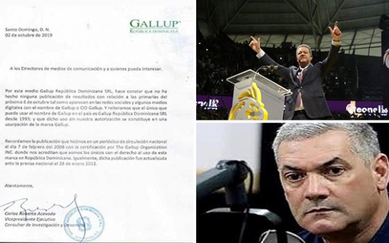 Gallup Dominicana informa es falsa encuesta favorece a Gonzalo sobre Leonel