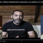 Indignación: José Martínez Brito, reitera Radhamés Camacho, es ladrón; Lo reta a que lo tranque; Vídeo
