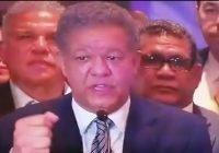 Leonel: No acepatamos resultados; Fueron adulterados a partir del 80 % del conteo; Vídeo