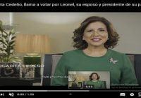 Margarita Cedeño: El 6 de octubre votaré por él. Por mi esposo, por el presidente de mi partido; Vídeo