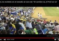 Abinader fue sorprendido al coro de: «El cambio va, el PLD se va» en el estadio Quisqueya; Vídeo