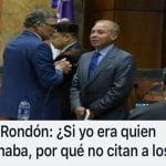 Rondón mencionó a Cristina, nombró a Gonzalo Castillo (Décima)