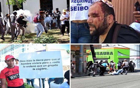 Gobierno envía caterva de delincuentes a agredir a peregrinos de El Seibo en marcha pacífica y hasta les robaron