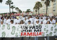 Por el rescate de los valores familiares y cristianos la Arquidiócesis de SD realiza caminata «Un paso por mi familia»