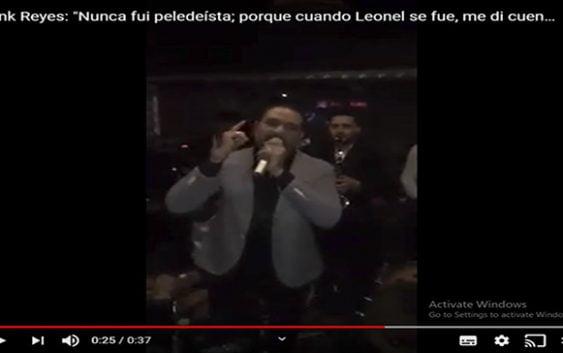 Frank Reyes: «Nunca fuí peledeísta; porque cuando Leonel se fue, me di cuenta que fui Leonelista»