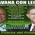 Leonel, Johnny Ventura y demás candidatos encabezarán caravana en el Distrito Nacional y la provincia Santo Domingo