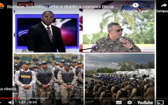 Ramón Tolentino tilda de díscolo a coronel Ricardo Castillo, hermano de Gonzalo Castillo y lo reta a duelo; Vídeo