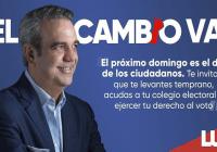 Abinader invita votar temprano por el cambio para construir nueva municipalidad; Pide rechazar prebendas; Vídeo