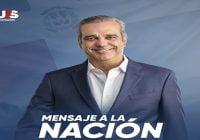 Luis Abinader dirigirá mensaje a la nación hoy con motivo de las Elecciones Municipales