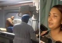 Natalia de los Santos esposa de técnico de Claro denuncia llorando es llevado a centro médico con golpes