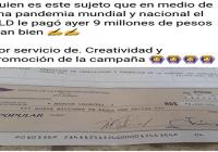 El señor Marcos Caisutti, socio y secuáz de João (Décima); Fascímil del cheque adjunto
