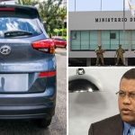 Guido denuncia delincuentes lo están vigilando siguió este vehículo sin placa y penetró en el Ministerio